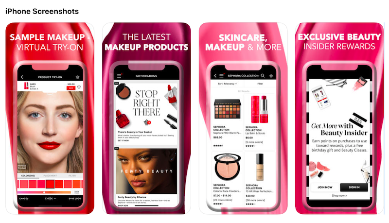 Sephora's mobile application